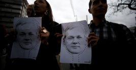 Ecuatorianos se manifestaron en Quito contra de la expulsión de Assange