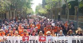 La marcha de este sábado fue convocada por al menos 270 organismos, incluyendo Marea pensionista de Cataluña.
