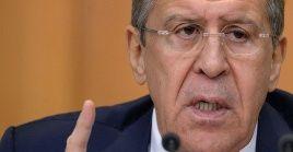 """EE.UU. """"se posiciona en contra de la paz latinoamericana"""", enfatizó el jefe de la diplomacia rusa."""