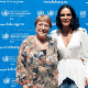 Lydia Cacho and Michelle Bachelet, the UN High Commissioner for Human Rights.