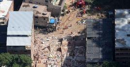 Los edificios fueron construidos ilegalmente en un área de reserva ambiental en la zona de Muzema, en Río de Janeiro.