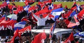 El pueblo nicaragüense ha salido a las calles en rechazó a las acciones de EE.UU.