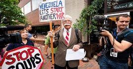 Estadounidenses expresan su rechazo a la agenda de EE.UU. contra Venezuela.