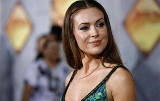 Actress Alyssa Milano poses at the world premiere of