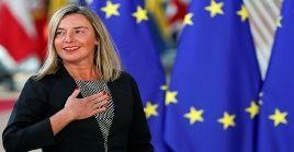 Federica Mogherini anunció que se reunirá con los representantes de Reino Unido, Francia y Alemania para analizar la forma de apoyar el acuerdo nuclear iraní