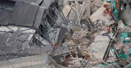 En total se rescataron 15 personas con vida del edificio colapsado.
