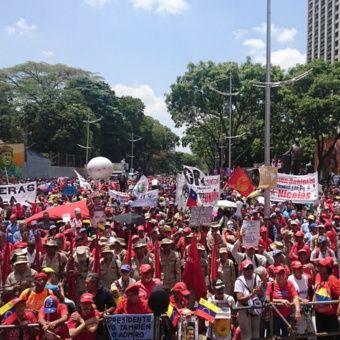 La movilización parte desde la Plaza Morelos y llegará al Palacio de Miraflores.