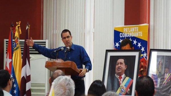 """""""Todos son capítulos de una disputa histórica por quién controla la renta petrolera de Venezuela"""", aseveró el canciller Arreaza."""