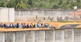 En la imagen un motín de presos en una cárcel brasileña en 2017.