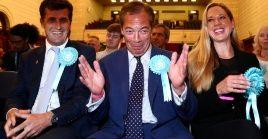 El ultranacionalista Nigel Farage se encuentra entre los miembros del Partido Brexit que serán eurodiputados.