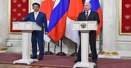 Vladimir Putin y Shinzo Abe se han reunido en 25 oportunidades.