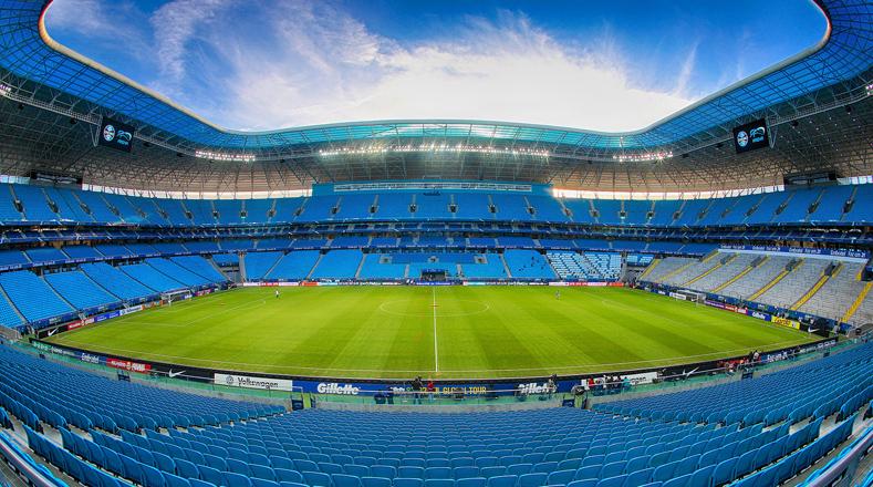 El segundo disponible para la tan esperada cita del deporte rey es el Arena do Grêmio, usado tanto para partidos como para grandes shows y festivales.