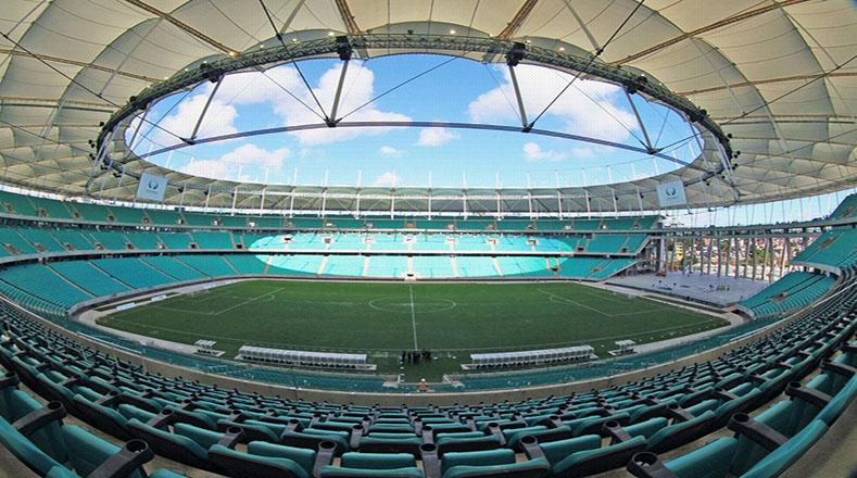 Uno de los recintos más modernos de la Copa es el Arena Fonte Nova. Esta sede fue utilizada tanto para el Mundial de 2014 como para los Juegos Olímpicos de 2016.