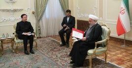 El mandatario iraní agradeció la solidaridad y apoyo de China ante las sanciones impuestas por EE.UU.