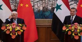Los cancilleres de China y Siria condenaron la agenda adelantada por EE.UU. contra Irán.