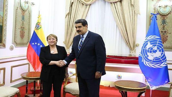 Resultado de imagen para bachelet en venezuela