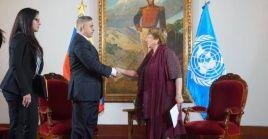 El canciller venezolano Jorge Arreaza valora como positiva visita de Alta Comisionada de DD.HH. de la ONU, Michelle Bachelet
