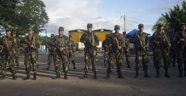 La detención de los cuatros sospechosos fue realizada por el Ejército de Nicaragua durante sus operaciones para resguardar la frontera del país.