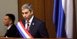 El presidente paraguayo compareció ante el Congreso de la Nación para ofrecer su primer informe de gobierno.