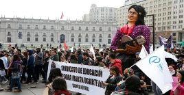 Maestros chilenos convocaron a una nueva movilización para este miércoles.