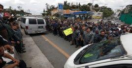 El miércoles los efectivos trancaron los accesos a la Ciudad de México.