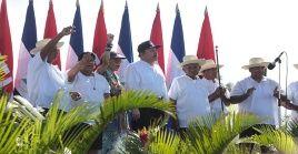 Daniel Ortega recordó a los mártires que ofrendaron su vida por la causa revolucionaria.