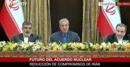 Irán aumentará nivel de enriquecimiento de uranio, pero lo limitará a actividades pacíficas.