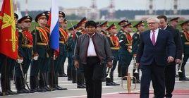 Este sera la quinta reunión entre Evo Morales y Vladímir Putin.