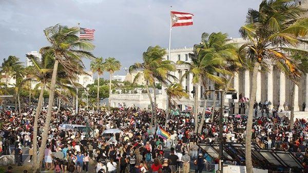 Protestas masivas ponen en jaque al gobernador de Puerto Rico