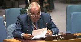 El embajador cubano agradeció los gestos de solidaridad de varias naciones del mundo que se suman contra el bloqueo impuesto por EE.UU.