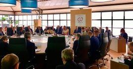 Representes del grupo G7 se reunieron en Chantilly, Francia.