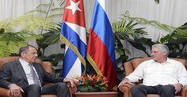 Díaz-Canel y Lavrov destacaron que las relaciones entre La Habana y Moscú están basadas históricos lazos de amistad entre los dos pueblos.