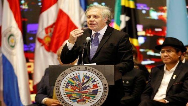 Se prevé que los países de Colombia y EE.UU. si apoyen lacandidatura a reelección de Almagro.