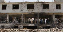 El pasado viernes, un automóvil cargado de explosivos detonó frente a un edificio de la misma localidad, matando a cuatro agentes de seguridad afganos.