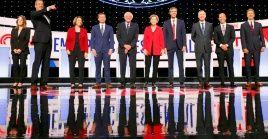 Los aspirantes presidenciales del Partido Demócrata de EE.UU. sostuvieron la noche del martes el primero de dos debates.