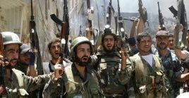 Las primeras operaciones del ejército sirio fue la destrucción deartillería y misiles en posiciones del Frente Al-Nusra en Latamineh-Zakat- Arbin.