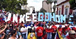 El pueblo venezolano rechaza las medidas de Trump y se moviliza en apoyo al presidente Nicolás Maduro.