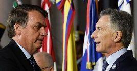 Bolsonaro apuesta abiertamente por la reelección de Macri en Argentina.