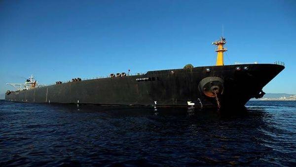 El buque iraní Adrian Dary, estuvo retenido en Gibraltar por más de un mes.