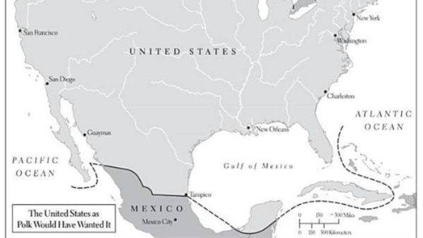 En 1848, EE.UU. pretendía arrebatar una mayor cantidad de territorio mexicano.