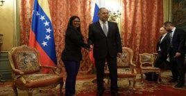 Delcy Rodríguez indicó que las alianzas con Rusia están basadas en las relaciones de amistad y respeto.