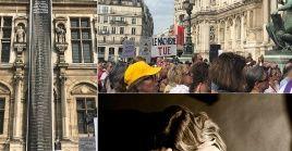 Los manifestantes se reunieron para crear conciencia y exigir acciones más duras contra los feminicidios en Francia.
