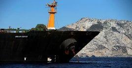 El petrolero iraní estuvo retenido por más de un mes en Gibraltar por orden del Gobierno británico.