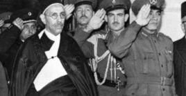 El rey Idris al Senusi, en El Cairo, Egipto, en 1952.