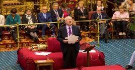 La consulta de la Cámara Alta de este viernes derivó en el rechazo de un brexit sin acuerdo propuesto por el primer ministro, Boris Johnson.