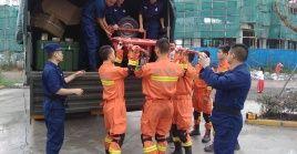 Ante la gravedad de la situación, se desplazaron un total de 600 efectivos para realizar las labores de rescate.