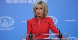 Zajárova insistió en el fracaso político de estados Unidos en el Medio Oriente, dada su incapacidad de enfrentar los ataques a la petrolero saudí Aramco.
