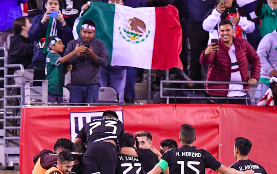 Mexico's soccer team plays the United States in New Jersey. Sept. 2019