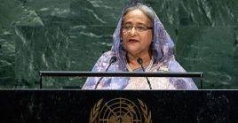 La primer ministra instó a la comunidad internacional tomaren consideración las causas del dilema de los rohingya.