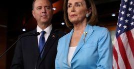 Pelosi y Schiff acusaron al presidente de incitar a la violencia contra el trabajador de los servicios de inteligencia que hizo la denuncia.